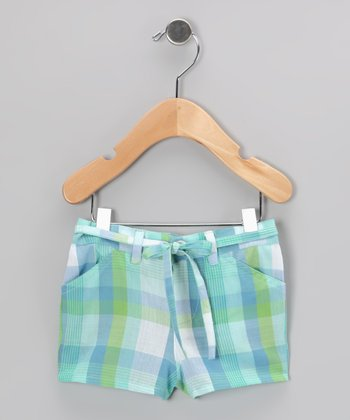 Green Plaid Shorts - Infant & Toddler
