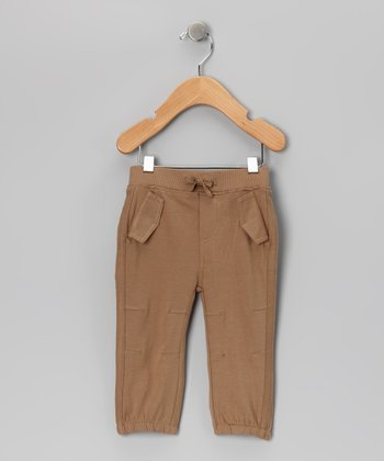 Taupe Pocket Pants - Infant