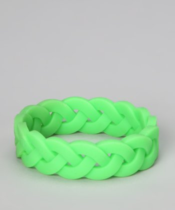 Green Braided Bangle