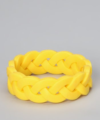 Yellow Braided Bangle