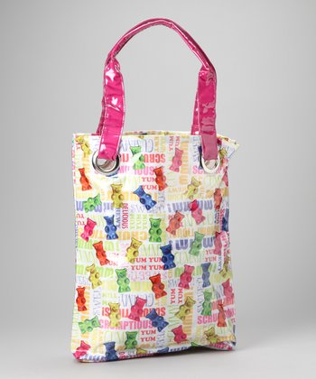 White & Pink Gummy Bear Tote