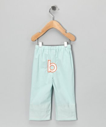 Mist Blue Brites Initial Pants - Infant & Toddler