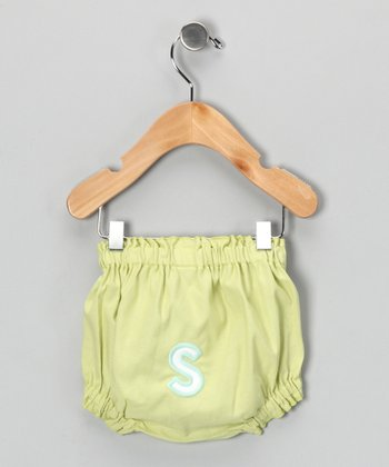 Lime Brites Initial Diaper Cover - Infant