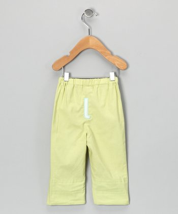 Lime Brites Initial Pants - Infant & Toddler