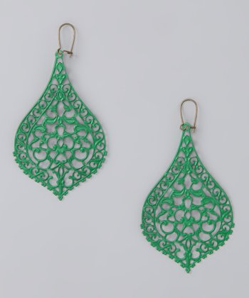 Green Big City Earrings