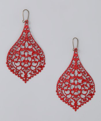 Red Big City Earrings
