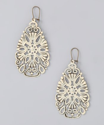 Cream Coney Island Earrings