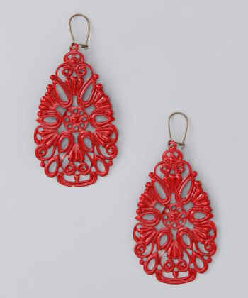 Red Coney Island Earrings