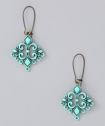 Aqua Love Struck Earrings