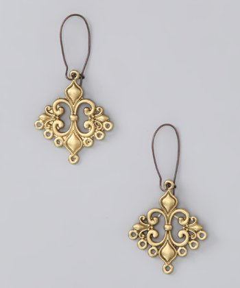 Brushed Gold Love Struck Earrings
