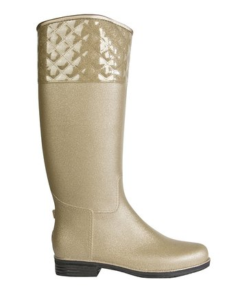 Champagne Quilted English Boot -  Women