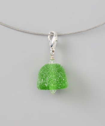 debra kallen Green Gumdrop Pendant Necklace