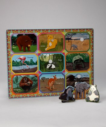 Wild Animal Mother & Baby Tray Puzzle
