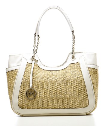 Shell Nicole Straw Scoop Shoulder Bag