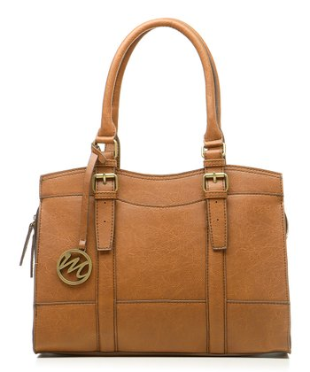 Cognac Jane Satchel
