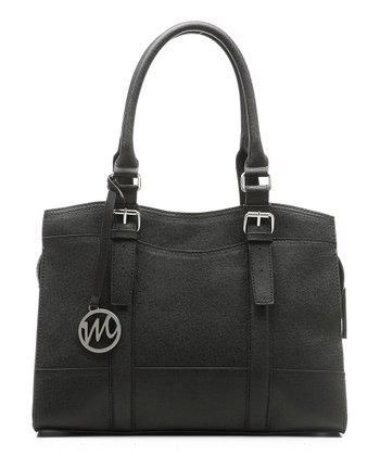 Black Saffiano Jane Satchel