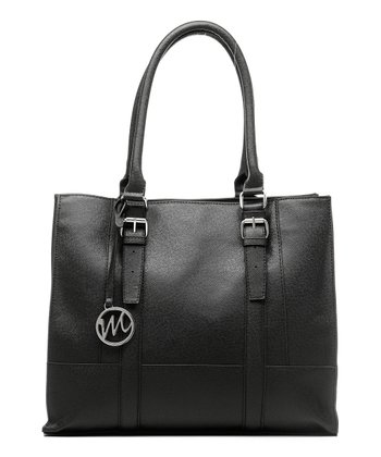 Black Saffiano Jane Shopper Tote