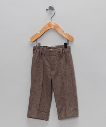 Brown Pintuck Pants - Infant, Toddler & Boys