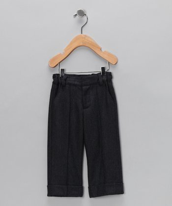 Navy Pintuck Pants - Infant, Toddler & Boys
