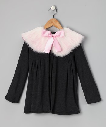 Gray & Pink Matchy Jackie Jacket - Girls