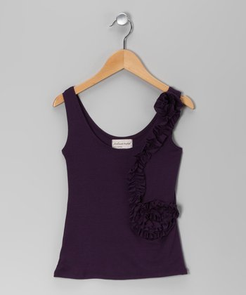 Purple Lily Tank - Girls