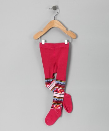 Hot Pink Stripe Tights - Infant