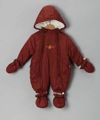 Brown & Cream Snowsuit - Infant