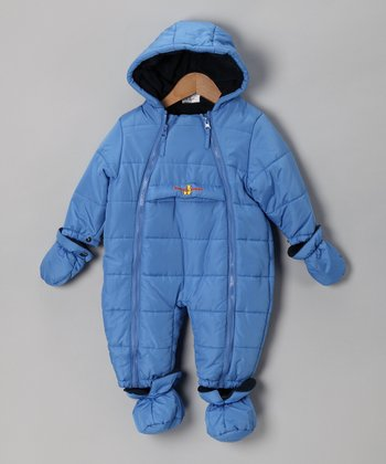 Blue Quilted Snowsuit - Infant