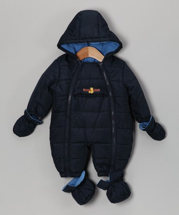 Navy Quilted Snowsuit - Infant