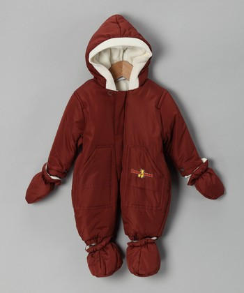 Brown & Cream Pocket Snowsuit - Infant