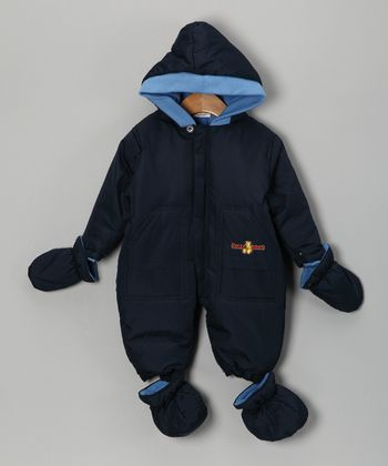 Navy Pocket Snowsuit - Infant
