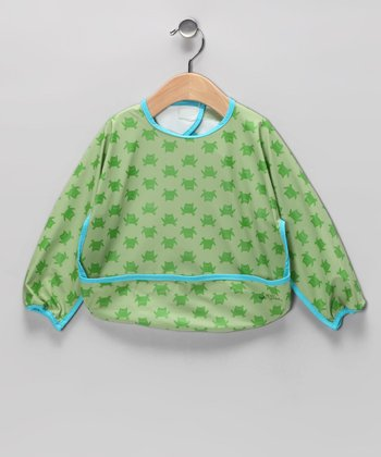 Green Frog Waterproof Bib