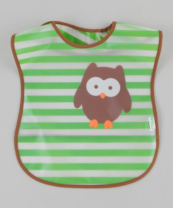 Green Owl Wash 'n' Wipe Bib