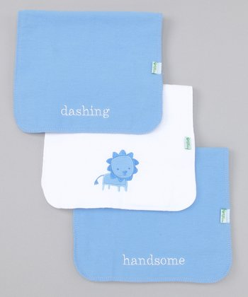 Cornflower Burp Pad Set