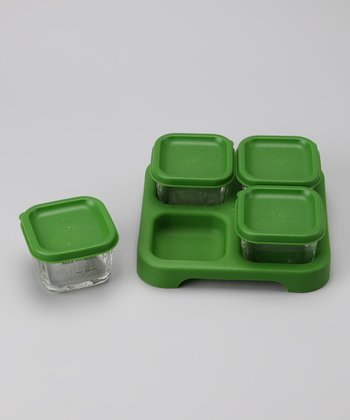 Green Baby Food Storage Tray Small Set