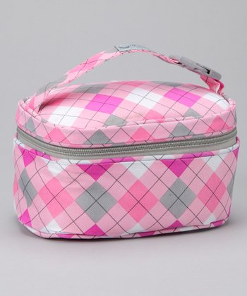 Pink Argyle Insulated Snack Bag