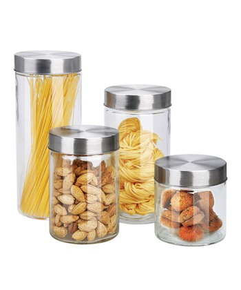 Round Glass Canister Set