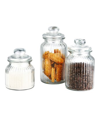 Ribbed Jar Set
