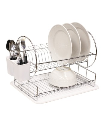 White Two-Tier Dish Rack