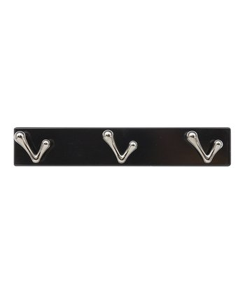 Gunmetal Abstract Three-Hook Rack
