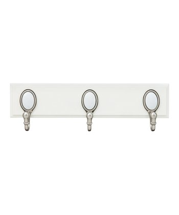 Satin Nickel Country Chic Three-Hook Rack