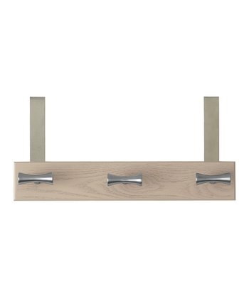 Satin Nickel Euro Over-the-Door Three-Hook Rack