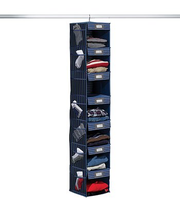 Gray & Blue Stripe Seven-Shelf Hanging Organizer