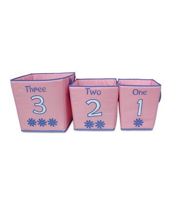 Pink & Purple Storage Bin Set