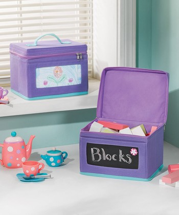Purple & Turquoise Small Chalkboard Box