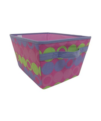 Purple & Green Dot Storage Bin
