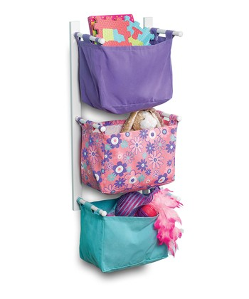 Purple & Turquoise Storage Tower Set