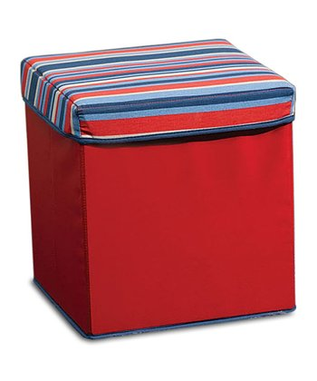 Red & Blue Collapsible Storage Ottoman