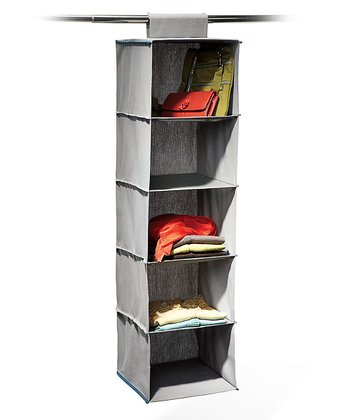 Gray & Teal Five-Shelf Hanging Organizer