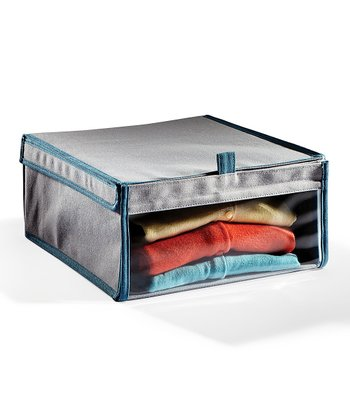 Gray & Teal Medium Storage Box